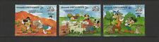 Grenada 3 timbres neufs 1988 Walt Disney Mickey Donald /T3077