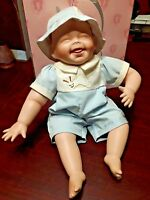 Beautiful New Ashton-Drake Porcelain Boy Baby Doll TICKLES IOB