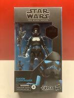 "Star Wars The Force Unleashed Shadow Stormtrooper 6"" Black Series Figure NIB"