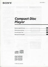 Sony-cdp-xe520 xe320 xe220-Manuale di Istruzioni Instructions-b2308