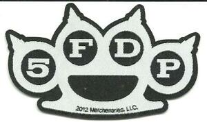 FIVE FINGER DEATH PUNCH knuckle shaped 2012 - WOVEN SEW ON PATCH official 5FDP