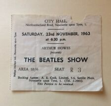 Beatles November 1963 Concert Ticket Newcastle UK Original Rare