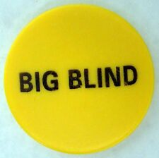 "2"" Printed Big Blind Poker Button, Yellow"