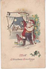 CPA 144 - Evènement - Joyeux Noël Mith Christmas Greetings carte gauffrée
