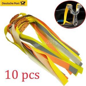 10x Ersatzgummi flach Steinschleuder Sportschleuder Slingshot Elastic Band Set