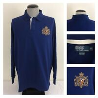 Polo Ralph Lauren Mens XL Blue Rugby Pullover Finest Made Equestrian Goods Logo
