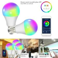E27 Wifi Smart LED light Bulb 85-265V RGBW Dimmable Lamp for Alexa/Google Home