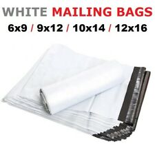 White Mailing Bags Strong Poly Postal Postage Post Mail Self Seal All Sizes UK