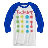 Twister Game Drips Costume Logo Fun Retro Adult Mens Graphic Raglan Style Shirt