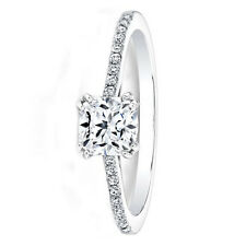 0.69 Carat Natural Cushion Cut Diamond Engagement Ring 950 Platinum Size M N O P