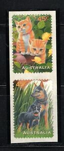 Australia SC1564-1565 Pair-Pets-Dog&Cat-SelfAdhesive MNH 1996