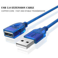 USB Extension Cable USB 2.0 Data Extender Male to Female Cord Adapter Line Pr CW