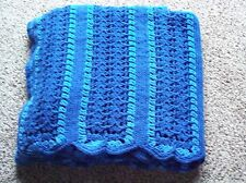 Handmade crochet 59x80 Easy Blues afghan blanket