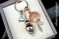 Beautiful Silver Gold & Rose Gold Tree Of Life Dream Catcher Keyring Key Ring