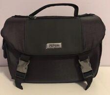 Nikon Digital SLR Camera Bag Charcoal & Black W Shoulder Strap New Without Tags