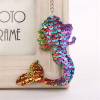 Fashion Sequins Mermaid Pendant Dangle Keyring Key Ring Chain Handbag Decoration