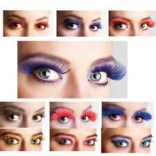 Künstliche Selbstklebend Augen Wimpern Federn Fasching Karneval JGA Superlang