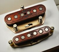 Wiggins Brand, hand wound, Alnico, Tele set, Padauk wood, Texas wound,