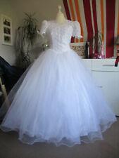Brautkleid Prinzessin Weiß Gr. 38