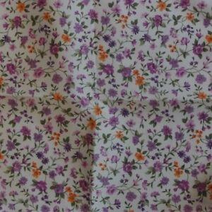 Pink Purple Floral Ascot Cravat Pocket Square Combo Cotton Blend