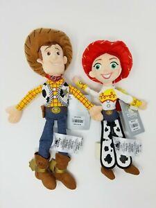"""Woody & Jessie Plush Doll Lot Toy Story - 12"""" w/tags Disney Store"""