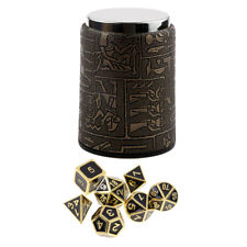7 Set Metal Polyhedral Dice for Dungeons and Dragons DND +Dice Cup Black #1
