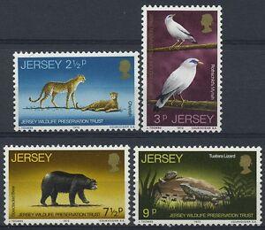 Jersey 1971 MNH No Gum, Birds, Animals, Reptiles, Catlike Wild Animals
