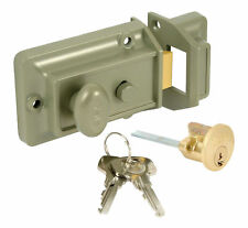 Yale 77 Front Door Traditional Night Latch Lock Rim Type Anti-Bump Cylinder