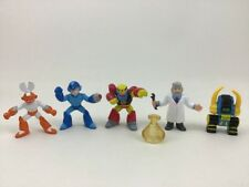 "Megaman Rockman Bandai Vintage 1995 Capcom Toy Figures 2"" Mini Lot 6pc Dr Light"
