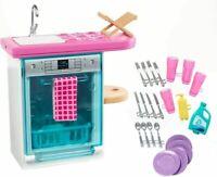 Barbie FXG35 Indoor Furniture Set, with Kitchen Dishwasher, Multicolored