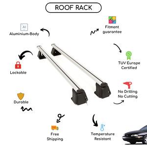 Bare Roof Rack Cross Bars Set for Chevrolet Lumina Sedan 1990 - 1994