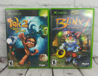 Blinx The Time Sweeper & Tak 2 (Microsoft Xbox, 2002) Video Game Lot Complete