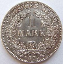 Top! 1 Mark 1875 J en Banque/tampon brillance très rare!!!