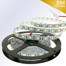 Warm White 5M 300 SMD 5050 Flexible None -Waterproof LED Strip Light 12V DC