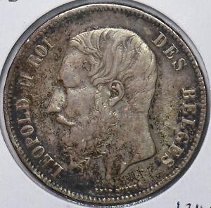 Belgium 1873 5 Francs Lion animal 490675 combine shipping