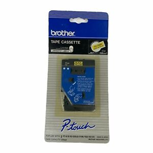 Brother TC Tape Cartridge Cassette Yellow Tape w/ Black Lettering 1/2'' Wide New