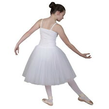 Romantic BALLET TUTU Dress White Pink Leotard Show Costume by Dancing Daisy