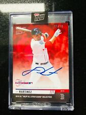 On-Card Autograph # to 10 - JD Martinez - MLB TOPPS NOW Card 2 HOT CARD