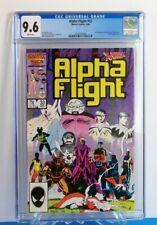 Alpha Flight #33 Marvel 1986 1st Lady Deathstrike X-Men Appearance CGC 9.6 NM+