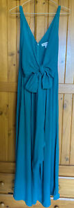 Country Road Ladies Emerald Green Wrap Wide Leg Jumpsuit /playsuit Bnwt Size 8