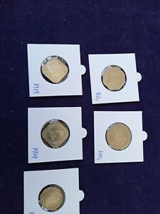 british india lot of 5 coins in excelent conditon with a rare 8 annas 1919