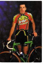 CYCLISME carte cycliste THIERRY LAURENT équipe LOTTO MOBISTAR 1999