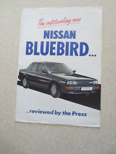 Original 1987 UK Nissan Bluebird cars advertising brochure