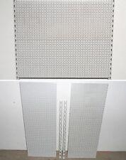 TEGOMETALL 2x LOCHWAND 100x40 cm 2x WANDSCHIENEN 80 cm SET LOCHWÄNDE WAND REGALE