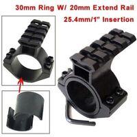 "1"" 25.4mm/30mm Scope Laser Flashlight Barrel Mount Ring 20mm Weaver Rail Adapter"