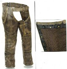 5500 Distressed Vintage Brown Chaps
