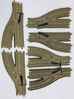 Lot 6 Pieces Thomas Train Plastic Tracks Trackmaster Switch Right Left Track Tan