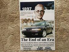2004 OLDSMOBILE ALERO THE END OF AN ERA 4/29/04 FINAL 500 USA 12X18 PHOTO POSTER