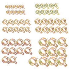 60 Pcs 6 Size Autos 65Mn Spring Clip Fuel Hose Water Pipe Tube Clamps Fasteners