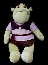"""Shrek the Third LARGE 17"""" Plush Doll Build a Bear Workshop in Ogre Outfit 2007"""